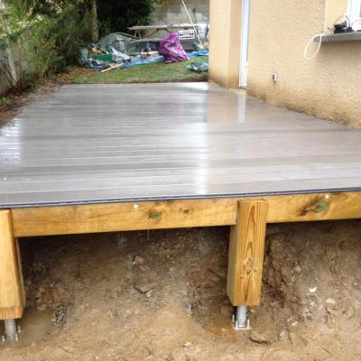 Terrasse composite WEX gris veiné