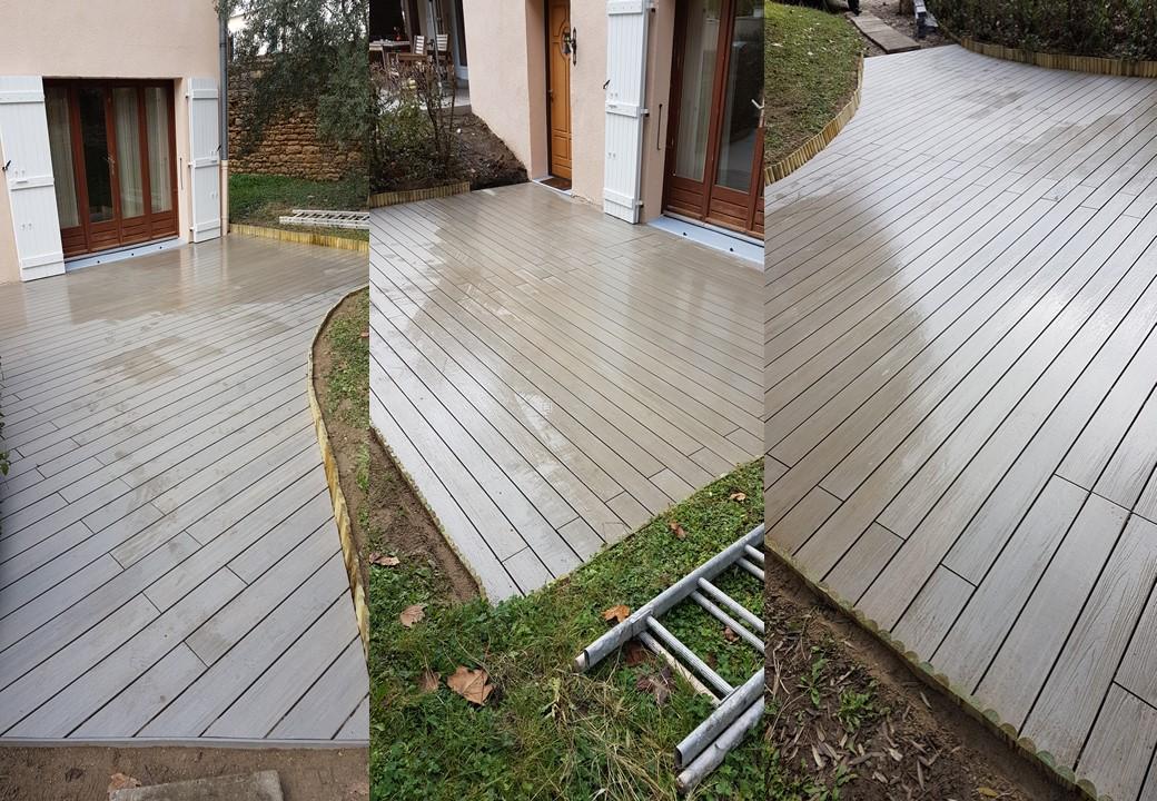 Terrasse composite sable