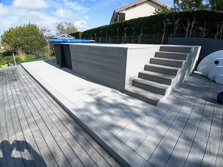 Terrasse resine mineral